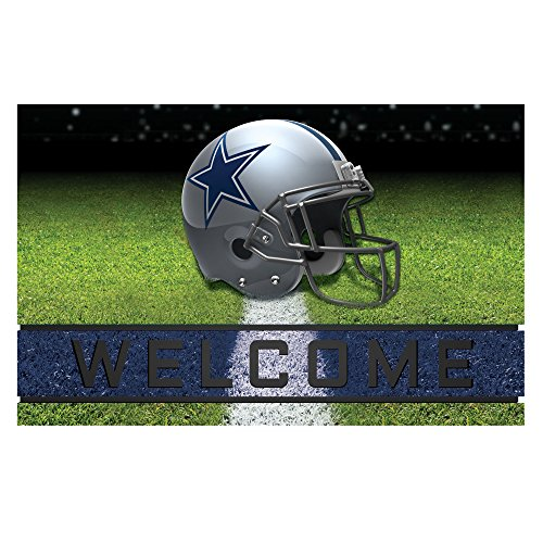 "Fanmats 19941 Team Color 18"" x 30"" Crumb Rubber Dallas Cowboys Door Mat"