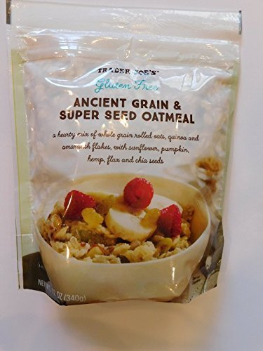 Trader Joe's Gluten Free Ancient Grain & Super Seed Oatmeal, 12oz (Pack of 2)