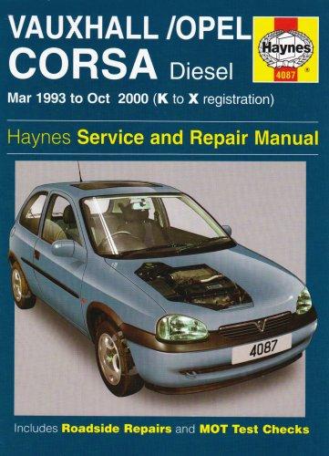 Vauxhall/Opel Corsa Diesel Mar 93 - Oct 00 Haynes Repair Manual: March 1993-October 2000 Haynes Service and Repair Manuals: Amazon.es: Haynes Publishing: ...