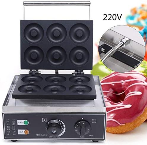 TFCFL Machine à donuts électrique 220 V 1550 W pour 6 donuts, donuts avec revêtement anti-adhésif