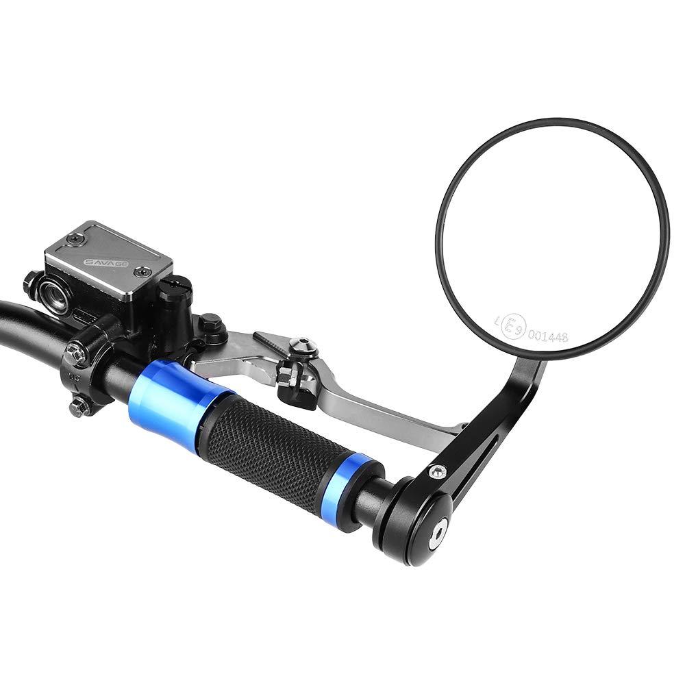 puntas de manillar ISSYZONE universal con 22 mm Retrovisores laterales para moto