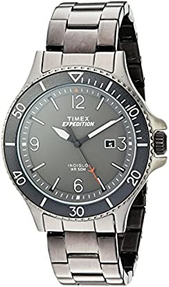 Timex Men's TW4B10800 Expedition Ranger Gray Stainless Steel Bracelet Watch