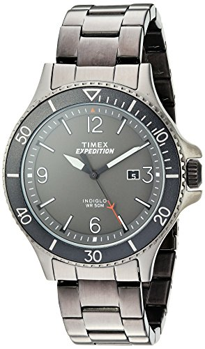 Timex Men's TW4B10800 Expedition Ranger Gray Stainless Steel Bracelet Watch (Gray Watches For Men)