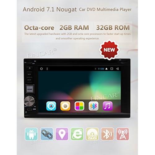 Caméra sans fil comprennent, Eincar Android 7.1 2 Go de RAM 32GB ROM CPU Octa-core 1024 * 600 Autoradio Autoradio PC GPS Bluetooth Radio Bluetooth Support / lien Miroir / 3G4G WIFI / Condition féminine Canada / best