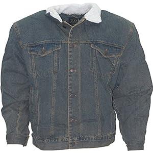 Denim Cowboy Jacket With Fur(Chamarra vaquera de mezclilla con borrego) Green