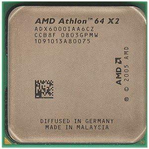 Amazon Com Amd Athlon 64 X2 6000 Windsor 3 0ghz 2 X 1mb L2 Cache Socket Am2 125w Dual Core Processor Computers Accessories