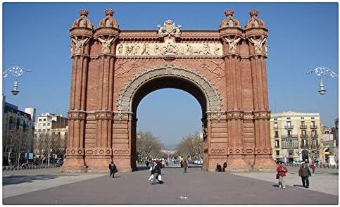 España Barcelona ciudades postal Post tarjeta de arco de triunfo: Amazon.es: Oficina y papelería
