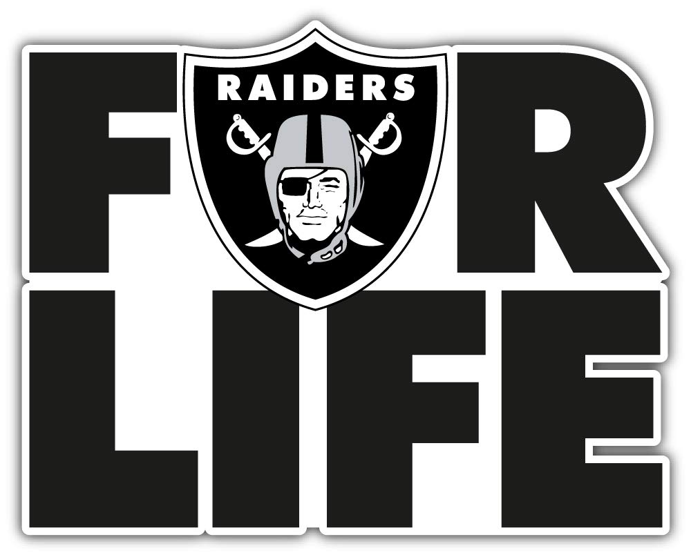 hotprint Raiders Football Oakland Sport for Life Car Bumper Sticker Decal 5 X 4