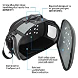 FRiEQ Foldable Hard Cover Pet Carrier with Shoulder Strap - Pet Travel Kennel Cats, Small Dogs & Rabbits