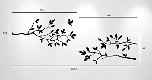 show original title Details about  /3D Branch Birds H872 Wallpaper Wall art Self Adhesive Removable Sticker Wend