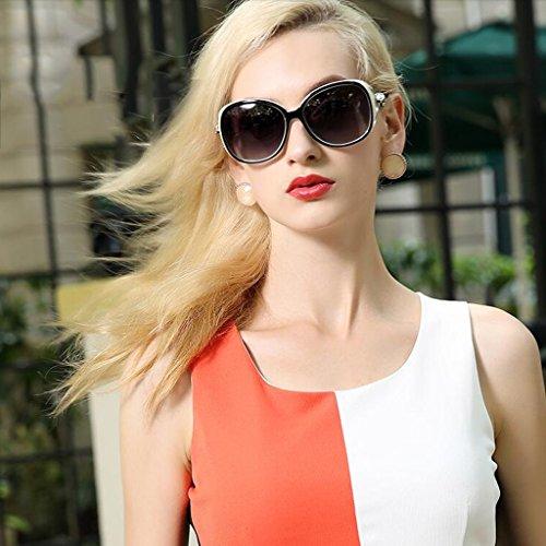 personas la pueden la de Gafas la Polaroid Las WLHW de miopía equipar Color sol sol gafas Personality moda Gafas de se Resin Box las de de Coffeecolor femeninas marea de retro UV400 Marrón fzzTBHq