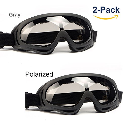 Ski Goggles with Poralized Lenses, Anti-UV Anti-Scratch Dustproof Windproof Protect for Kids/Boys/Girls/Men/Women, fit for Skiing Riding Motorcycle Outdoor Sports(Poralized) (Old Years 10 Tawny)