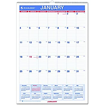Amazon At A Glance Wall Calendar 2017 Monthly 12 X 17 Ruled
