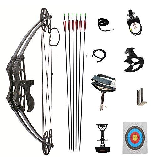 DLGLOBAL アウトドア コンパウンドボウ 狩猟弓 複合弓 M109 (ブラック)