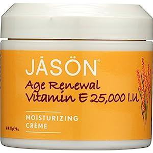 JASON Age Renewal Vitamin E Crème 25,000 IU, 4 Ounce (Pack of 2)