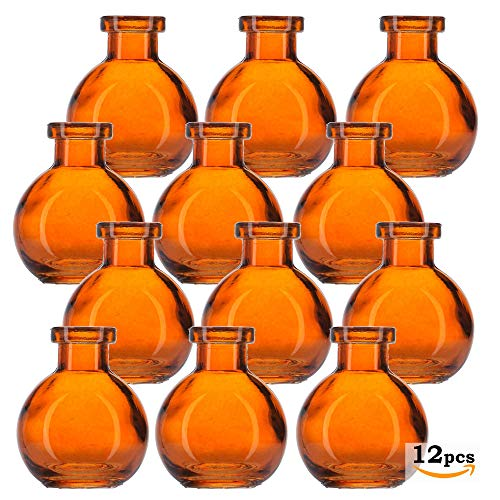 b688013bb041 Glassnow C6545G08-N Ball Glass Bottle No Cork, 3.4oz, 12 Pieces, Orange,  100 ml