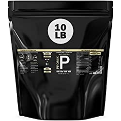 Performance Whey Protein Powder Concentrate - PROMIX Standard 100 Percent All Natural Grass Fed & Undenatured - Best for Optimum Fitness Nutrition Shakes & Energy Smoothie Bowls: Vanilla 10 lb Bulk