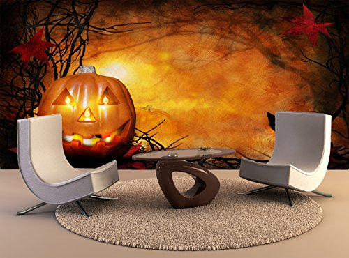 Wall Print Poster Halloween Pumpkin Wall Art Decor Photo Wallpaper Poster -