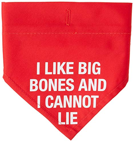 About Face Designs Like Big Bones Sm/Med Bandanna, Red -