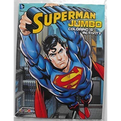 DC Comics Superman 64 Page Coloring and Activity Book.: Toys & Games
