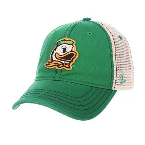 NCAA Oregon Ducks Men's Summertime Hat, Stone/Kelly, - College Visor