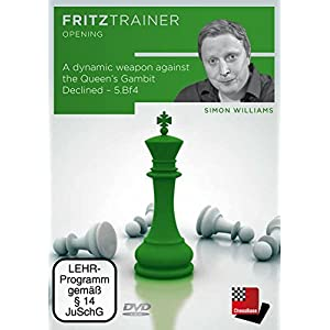 A dynamic weapon against the Queen's Gambit Declined - 5.Bf4: Fritztrainer: interaktives Video-Schachtraining 3