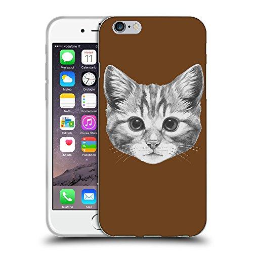 "GoGoMobile Coque de Protection TPU Silicone Case pour // Q05140633 Dessin chaton Sépia // Apple iPhone 6 4.7"""
