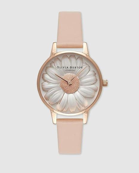 Olivia Burton Reloj Analógico para Mujer de Cuarzo con Correa en Cuero OB16FS87
