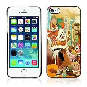 Designer Depo Hard Protection Case for Apple iPhone 5 5S / Retro Fantasy Art Painting
