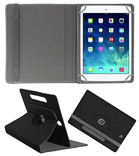 Acm Designer Rotating Leather Flip Case Compatible with Apple Ipad Mini 2 Cover Stand Black