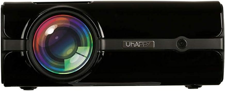 Opinión sobre Zhoutao Pantalla LED U45 sincronización móvil de Pantalla 1080P HD Mini proyector con Control Remoto, compatibilidad con USB/SD/HDMI/VGA/AV (Negro) (Color : Black)