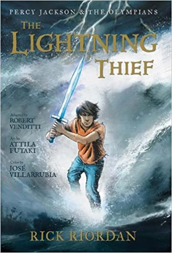 Image result for book cover the lightning thief graphic novel