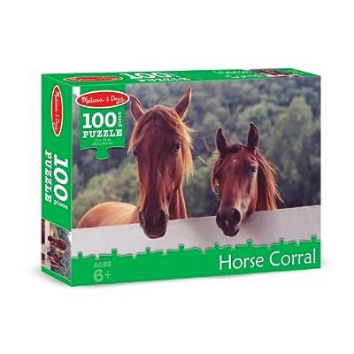 Melissa & Doug Horse Corral Jigsaw Puzzle (100 pcs): Melissa & Doug: Toys & Games