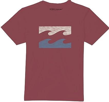 BILLABONG Wave SS Camiseta, Hombre, Navy Heather, 8: Amazon.es ...