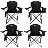 4 x COLEMAN Camping Outdoor Oversized Quad Chairs/Coolers