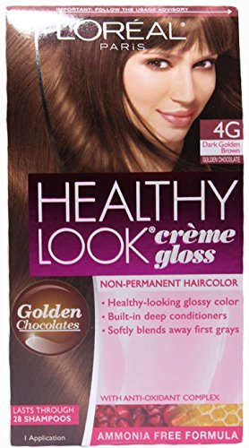 L'oreal Paris Healthy Look Crème Gloss, 4g Dark Golden Brown/golden Chocolate