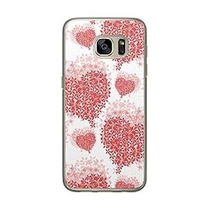 Loud Universe Samsung Galaxy S7 Love Valentine Files Valentine 2 Printed Transparent Edge Case - White/Red