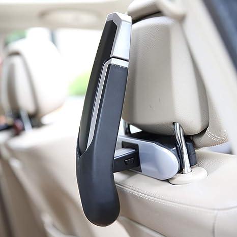Klappbar Auto Kleiderbügel Auto Rücksitz Kopfstütze Kleidung Jacke Anzug Aufhänger Multifunktionaler Auto Anti Rutsch Aufhänger Rücksitz Aufbewahrung Organizer 2 Packung Baumarkt