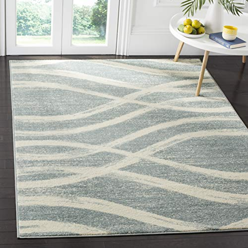 - Safavieh Adirondack Collection ADR125T Cream and Slate Modern Area Rug (6' x 9')