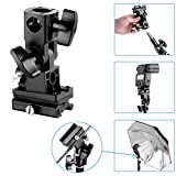 Neewer Flash Bracket Swivel Bracket Umbrella Holder Studio Tilting Bracket Type B for Canon 430EX II, 600EX-RT, Nikon SB600 SB900, Youngnuo YN 565, YN 568 and Other flashes with Universal Hotshoe