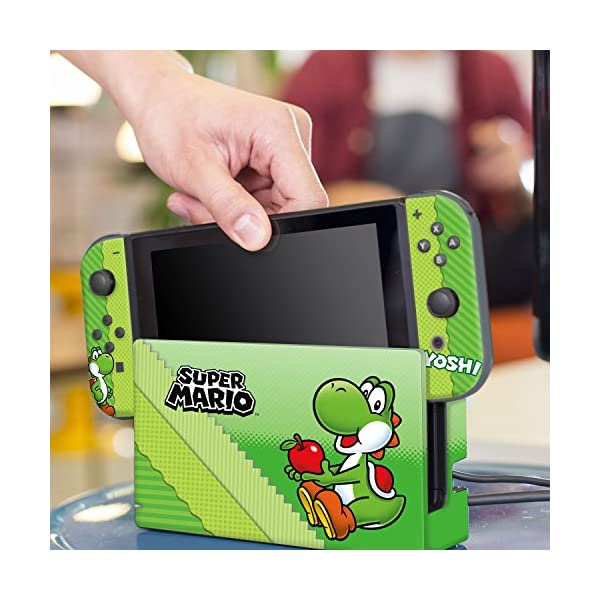 "Controller Gear Nintendo Switch Skin & Screen Protector Set, Officially Licensed By Nintendo - Super Mario Evergreen ""Yoshi Eggs"" - Nintendo Switch 6"