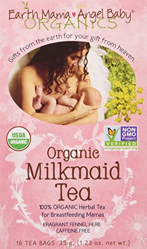 Earth Mama Angel Baby Organic Milkmaid Nursing Tea, 16 Teabags/Box (Pack of 6) (Earth Mama Milkmaid Tea)