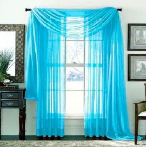 GorgeousHomeLinenDifferent Curtain Elegant Valance Turquoise