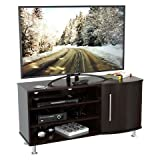 Inval MTV-8619 Curved Front Flat-Screen TV Stand, 50-Inch, Espresso-Wengue