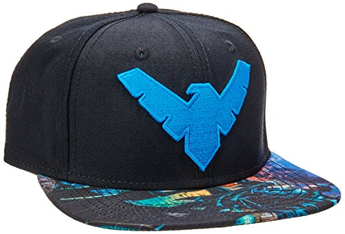 BIOWORLD DC Comics Batman Nightwing Logo Sublimated Bill Snapback Cap