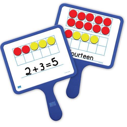 EAI Education Magnetic Ten Frame Dry-Erase Paddles: Set of 5 ()