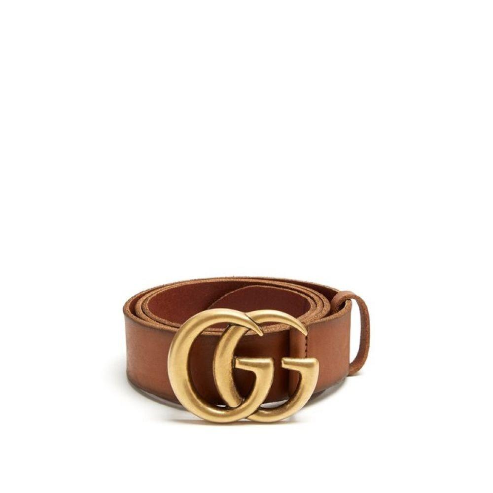 (グッチ) Gucci メンズ ベルト GG leather belt [並行輸入品] B07FCZJFYR 85EU