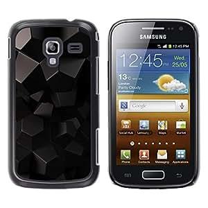 Be Good Phone Accessory // Dura Cáscara cubierta Protectora Caso Carcasa Funda de Protección para Samsung Galaxy Ace 2 I8160 Ace II X S7560M // Black Reflective 3D Gray