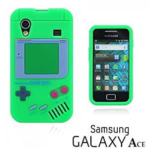 OnlineBestDigital - Gameboy Style Silicone Case for Samsung Galaxy Ace - Green