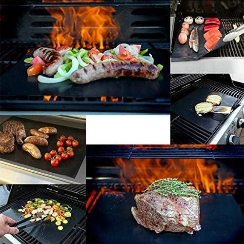 Celerhuak Barbecue résistant aux Hautes températures en Fibre de Verre Mat antiadhésif pour Barbecue